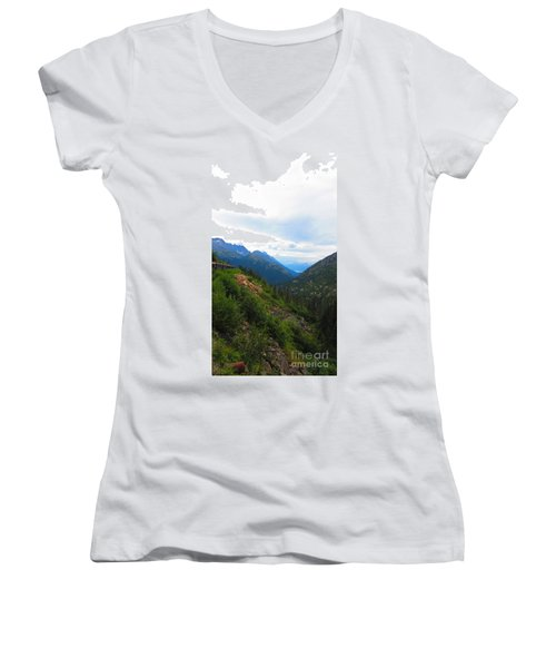 White Pass Rail Road Women's V-Neck T-Shirt