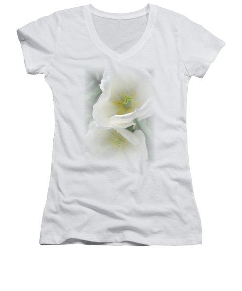 White Tulip Fantasy Women's V-Neck (Athletic Fit)