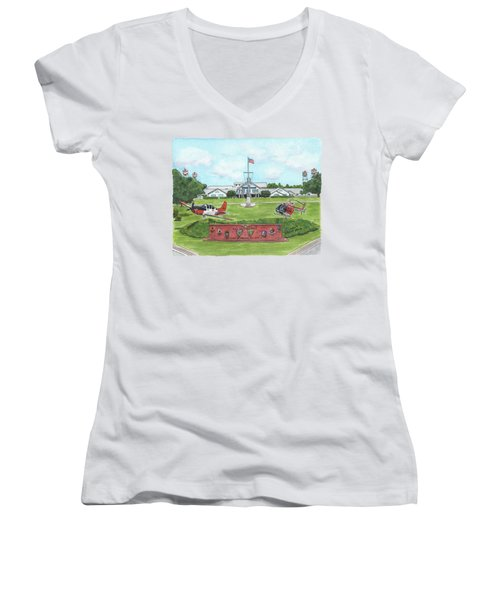 Whiting Field Welcome Sign Women's V-Neck