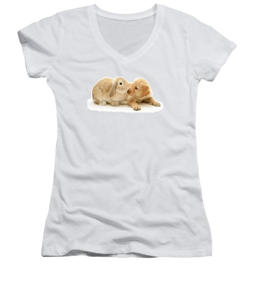 Who Ate All The Carrots Women's V-Neck (Athletic Fit)