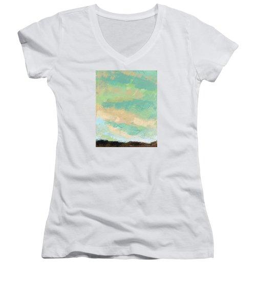 Wholeness Women's V-Neck T-Shirt (Junior Cut) by Nathan Rhoads