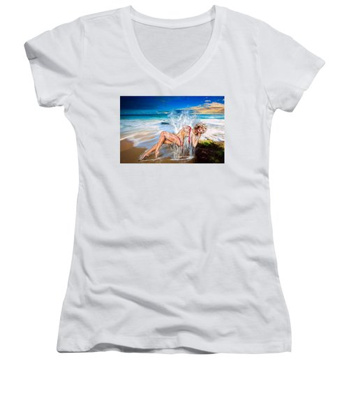 Whoops  ...  Marylin Women's V-Neck (Athletic Fit)