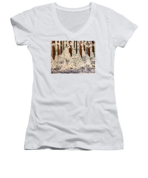 Whose Woods These Are I Think I Know Women's V-Neck