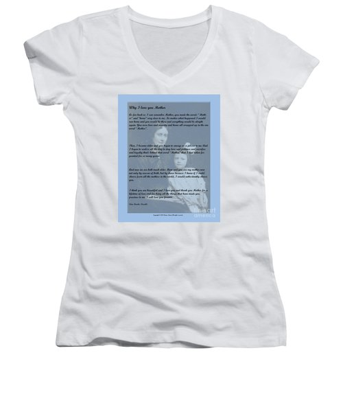 Why I Love You Mother Women's V-Neck