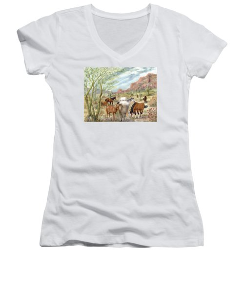 Wild And Free Forever Women's V-Neck (Athletic Fit)