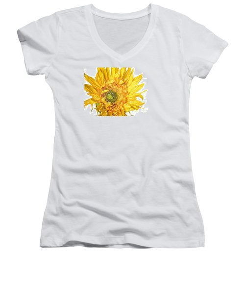 Wild Flower Two  Women's V-Neck T-Shirt (Junior Cut) by Heidi Smith