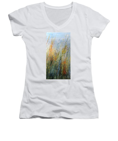 Wild Flowers And Hay Women's V-Neck T-Shirt
