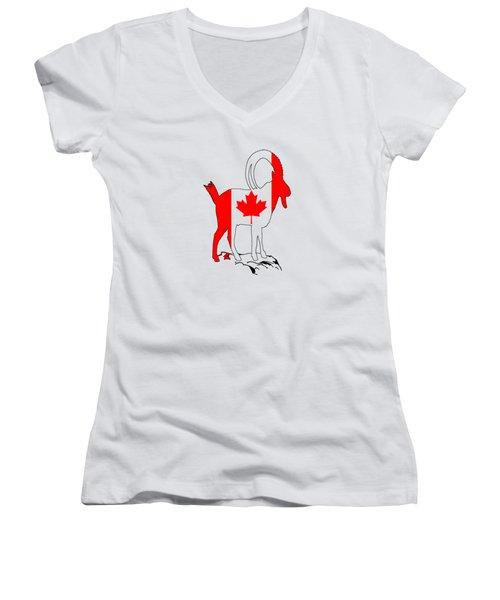 Wild Goat Women's V-Neck T-Shirt