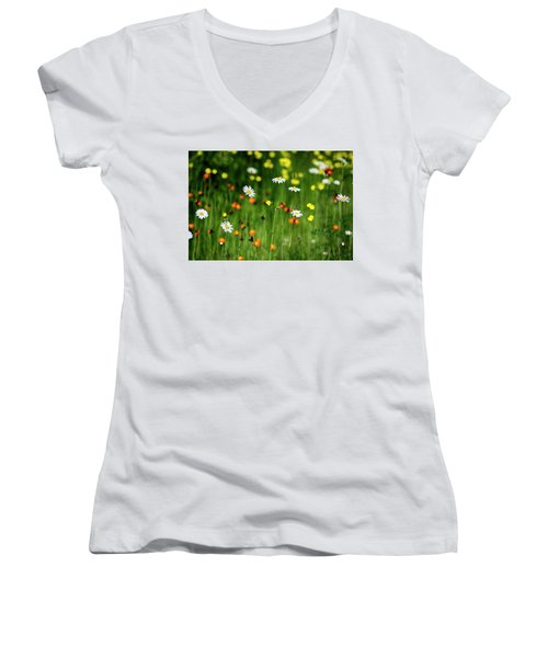 Wildflowers2 Women's V-Neck