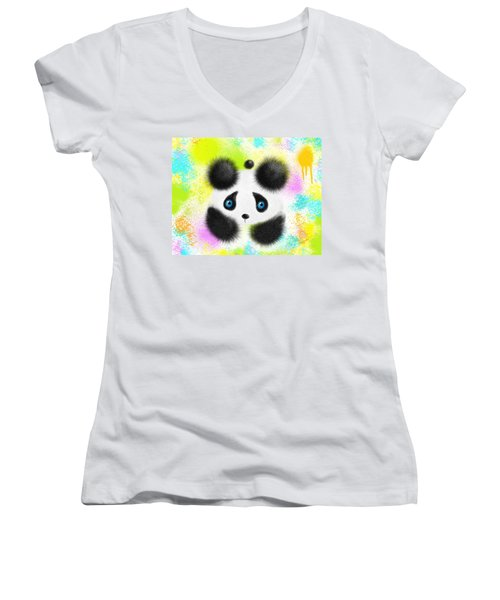Will I Fit In Women's V-Neck T-Shirt (Junior Cut) by Oiyee At Oystudio