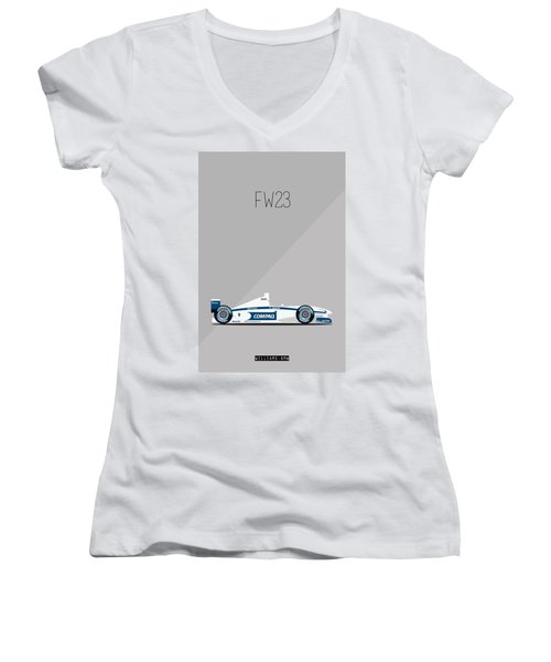 Williams Bmw Fw23 F1 Poster Women's V-Neck (Athletic Fit)