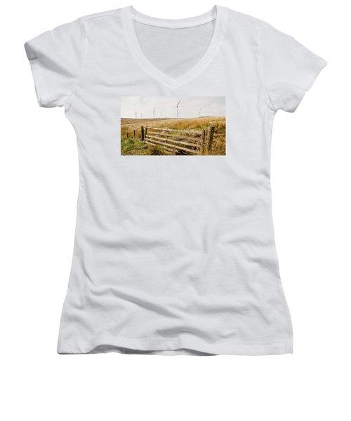 Wind Farm On Miller's Moss. Women's V-Neck