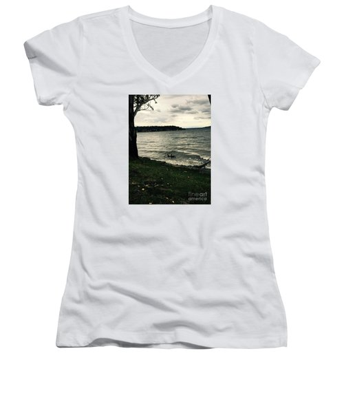 Wind Followed By Waves Women's V-Neck T-Shirt