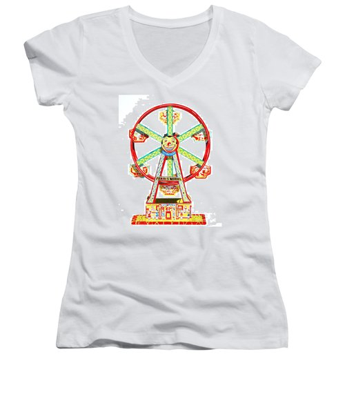 Wind-up Ferris Wheel Women's V-Neck T-Shirt