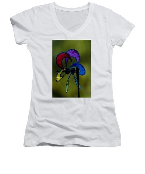 Windmill  Women's V-Neck T-Shirt (Junior Cut) by Ramabhadran Thirupattur