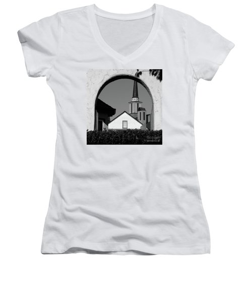 Window Arch Women's V-Neck T-Shirt