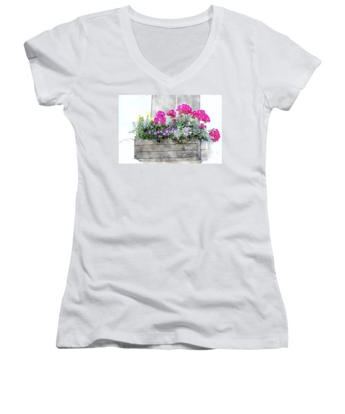 Window Box 5 Women's V-Neck