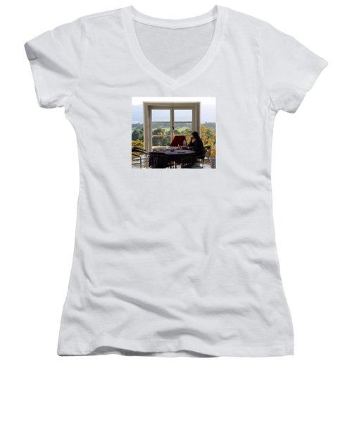 Window To The World Women's V-Neck T-Shirt