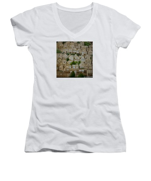 Windows Of Bernal Heights Women's V-Neck T-Shirt