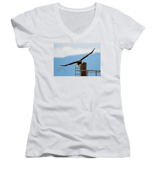 Wing Span Women's V-Neck (Athletic Fit)