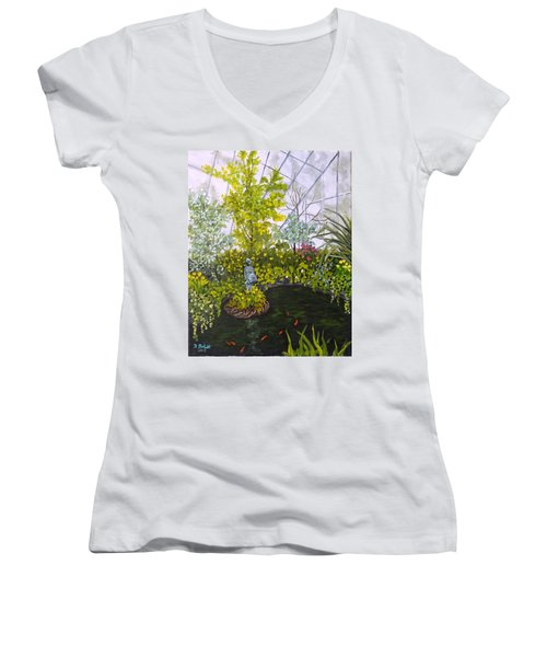 Winter At Allan Gardens Women's V-Neck T-Shirt