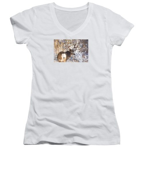 Winter Buck Women's V-Neck T-Shirt