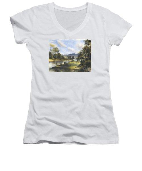 Winter In The Bellinger Valley Women's V-Neck T-Shirt