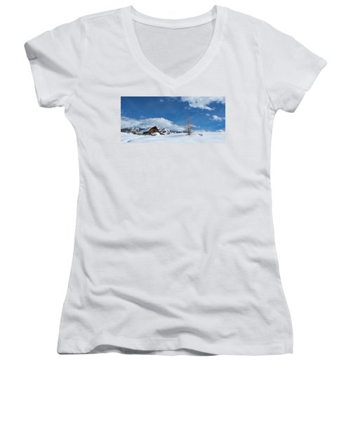 Winter In The Rockies Women's V-Neck (Athletic Fit)