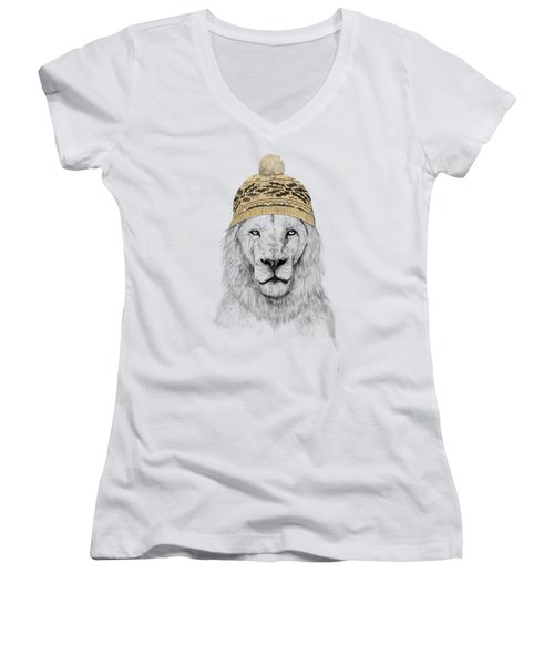 Winter Is Coming Women's V-Neck T-Shirt (Junior Cut) by Balazs Solti