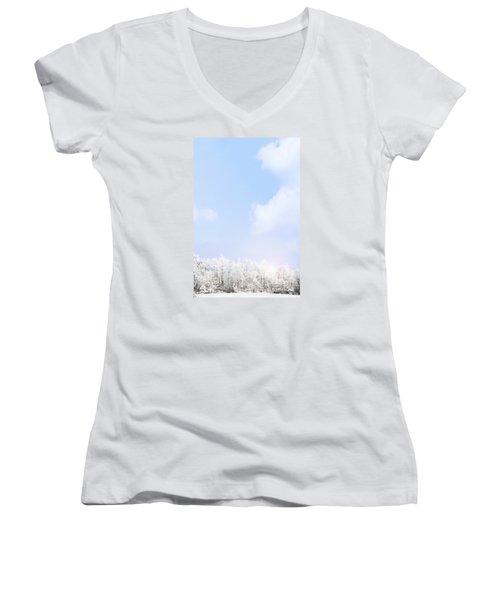 Winter Landscape Women's V-Neck T-Shirt