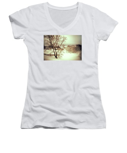 Winter Loneliness Women's V-Neck