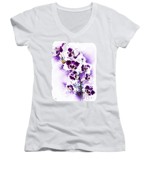 Winter Orchid Women's V-Neck (Athletic Fit)