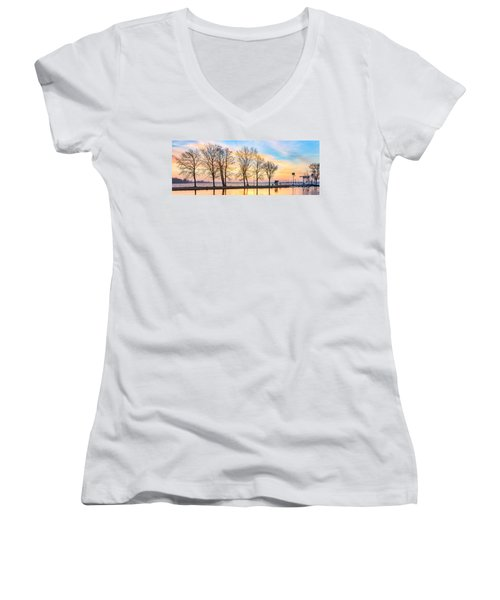 Winter Sunrise  Women's V-Neck T-Shirt