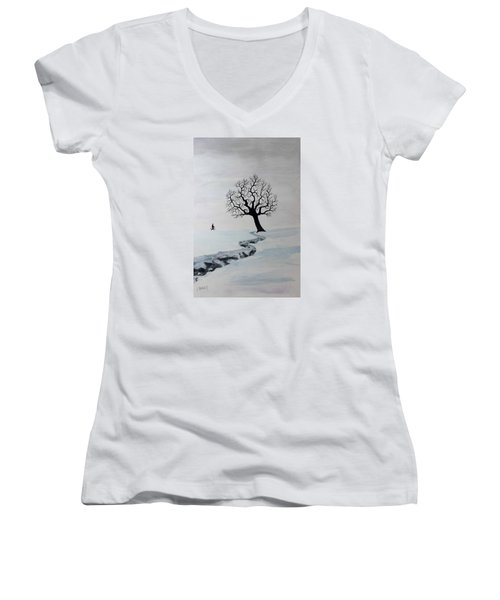 Winter Trek Women's V-Neck T-Shirt