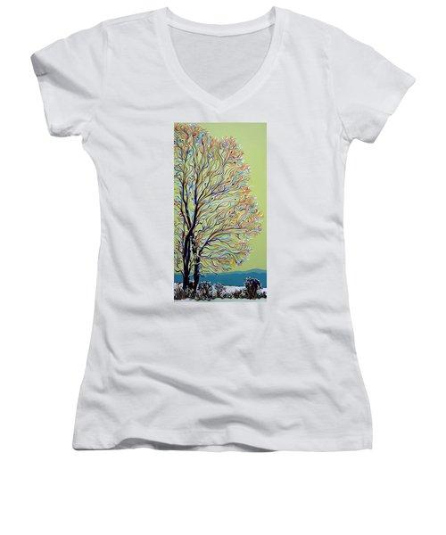 Wintertainment Tree Women's V-Neck