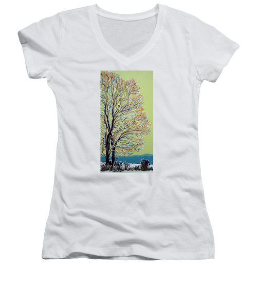 Wintertainment Tree Women's V-Neck (Athletic Fit)