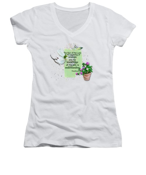 Wisdom And Knowledge Women's V-Neck (Athletic Fit)