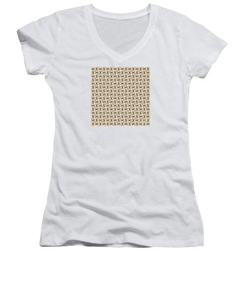 Woman Image Ten Women's V-Neck T-Shirt (Junior Cut) by Jack Dillhunt