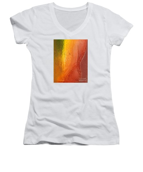 Woman In Window Light Women's V-Neck T-Shirt