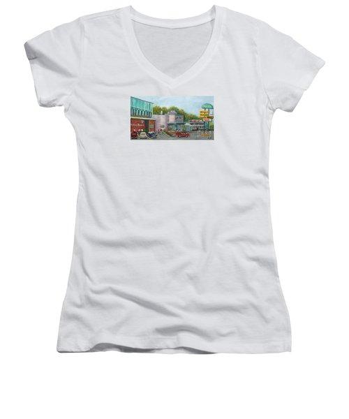 Wonderful Memories Of The Wal-lex Women's V-Neck T-Shirt (Junior Cut) by Rita Brown