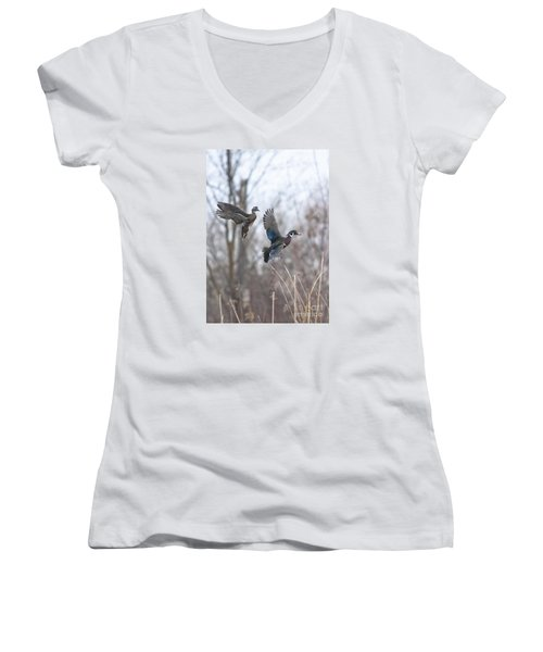 Wood Flight Women's V-Neck T-Shirt
