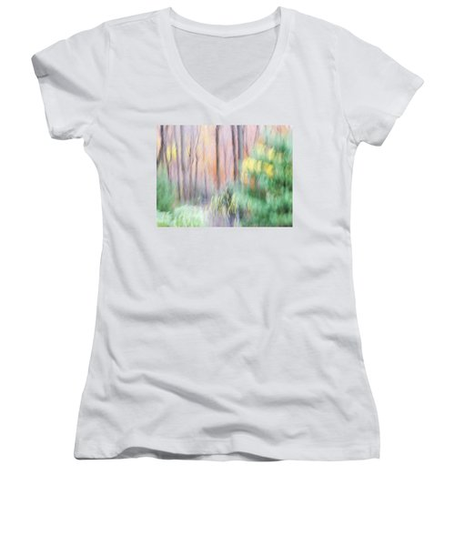 Woodland Hues 2 Women's V-Neck