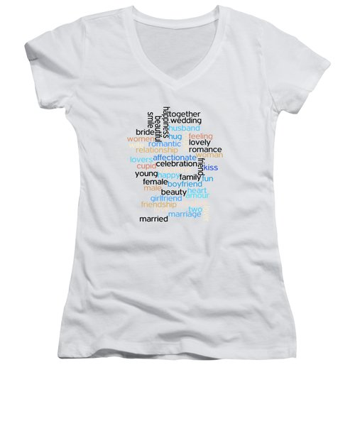 Words Of Love Women's V-Neck