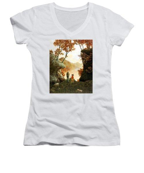 Words Of Wisdom Women's V-Neck T-Shirt