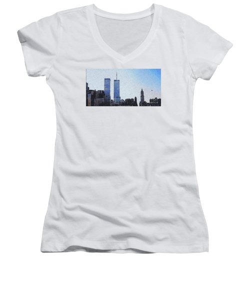 World Trade Center Once Upon A Time... Women's V-Neck (Athletic Fit)
