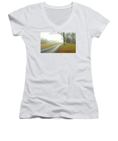 Worthington Lane Women's V-Neck T-Shirt (Junior Cut)