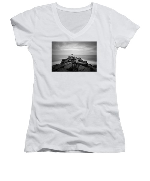 Wreck Of The Ss Atlansus Of Cape May Nj Women's V-Neck