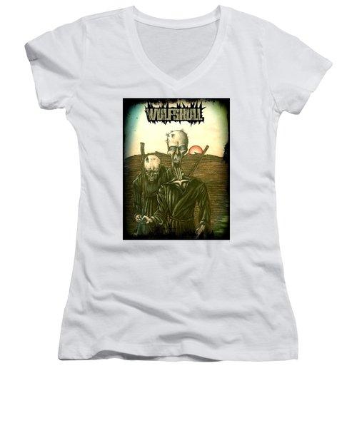 Wulfskull #1 Women's V-Neck T-Shirt