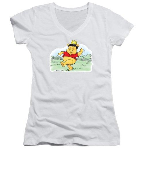 Xi The Pooh Women's V-Neck
