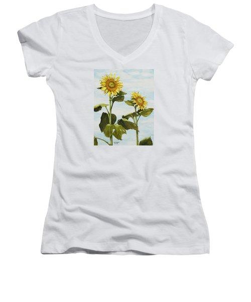 Yana's Sunflowers Women's V-Neck T-Shirt